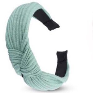 Knitted Knot Headband in Teal / Seafoam Green